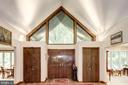 Front Entryway and Foyer with vaulted ceiling - 17007 BARN RIDGE DR, SILVER SPRING