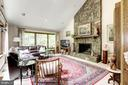 Family Room with large stone fireplace - 17007 BARN RIDGE DR, SILVER SPRING