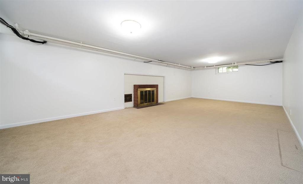 Basement Rec Room with fireplace! - 304 UPPER COLLEGE TER, FREDERICK