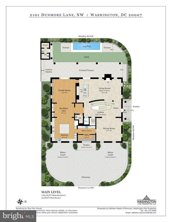 Floor Plans - Main Level - 2101 DUNMORE LN NW, WASHINGTON