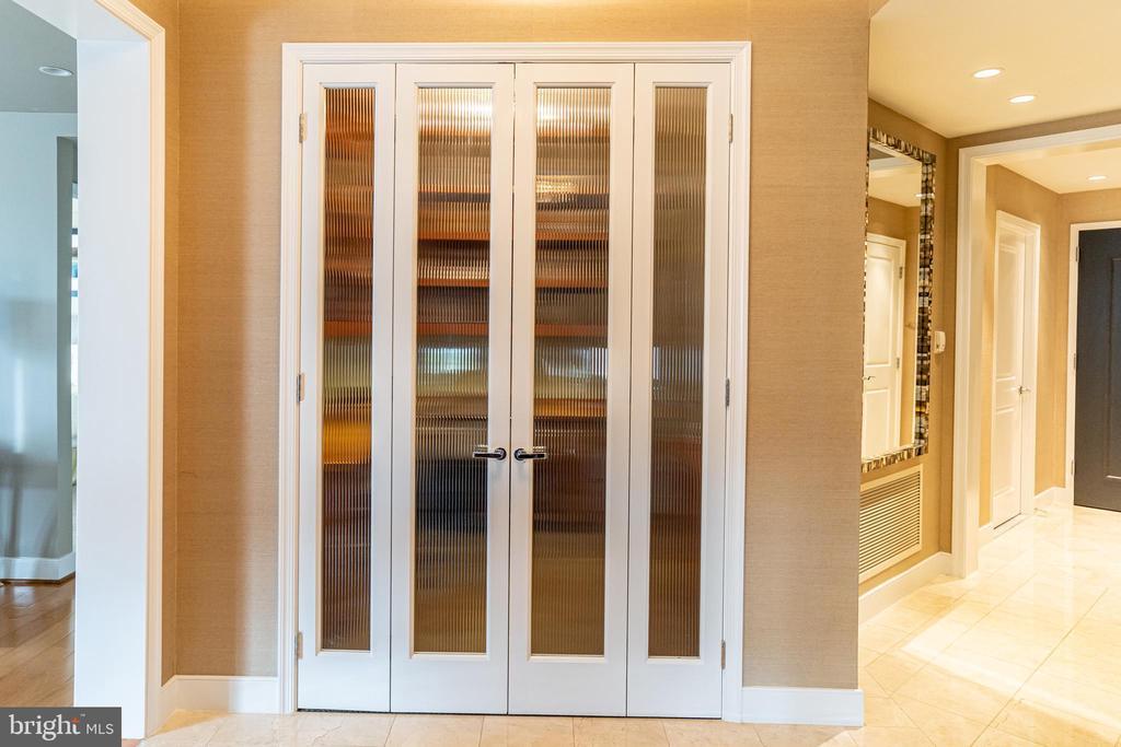 Den w/Doors - 7710 WOODMONT AVE #703, BETHESDA