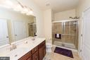 Master bath with dual vanities - 160 BURLEY ST #101, STAFFORD