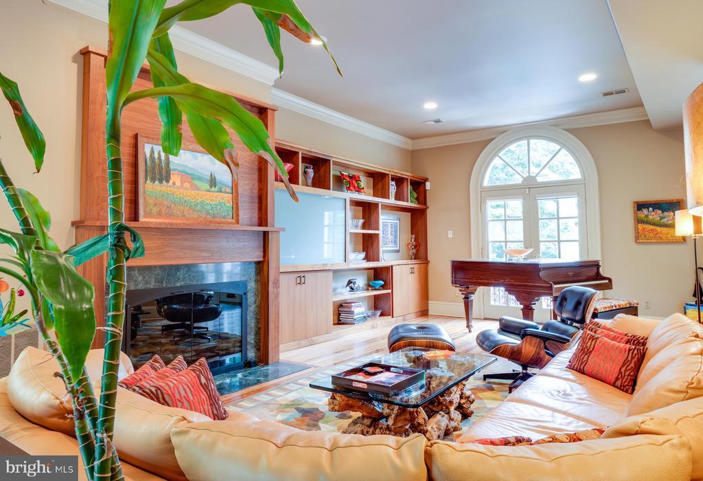 Grand living room w/ fireplace & custom built-ins - 112 5TH ST SE, WASHINGTON