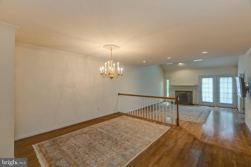 View from the dining room to living room - 3208 N TACOMA ST, ARLINGTON