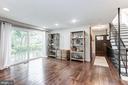 Living space with Sliding glass doors - 6244 COLUMBIA PIKE, FALLS CHURCH
