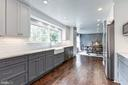 Expansive kitchen opens to the dining room - 6244 COLUMBIA PIKE, FALLS CHURCH