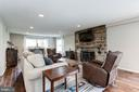 Family room with hand-carved oak floors - 6244 COLUMBIA PIKE, FALLS CHURCH
