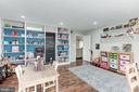 Playroom with built in storage off of family room - 6244 COLUMBIA PIKE, FALLS CHURCH
