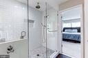 Huge walk in shower with bench & rain shower head - 6244 COLUMBIA PIKE, FALLS CHURCH