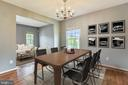 Formal dining room opens to living room - 25635 LAUGHTER DR, ALDIE