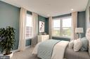 Bedroom 2 (Virtually Staged) - 1851 MICHAEL FARADAY DR, RESTON