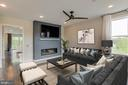 Family Room (Virtually Staged) - 1851 MICHAEL FARADAY DR, RESTON
