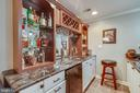 Wet bar in basement - 43266 CANDICE DR, ASHBURN
