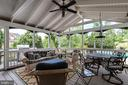 Screened-in back porch - 43266 CANDICE DR, ASHBURN