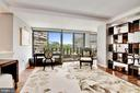 Living Room with Views to Potomac River - 2500 VIRGINIA AVE NW #502/503, WASHINGTON