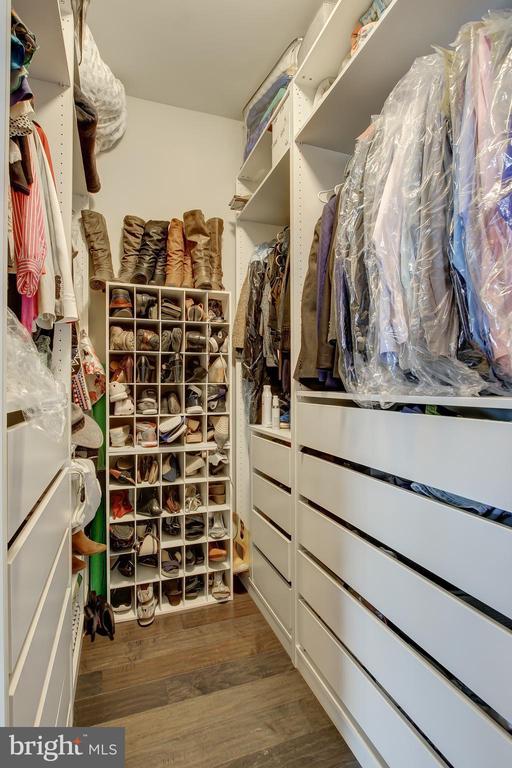 Closet in Master Bedroom has custom closet system - 22983 WORDEN TER, BRAMBLETON