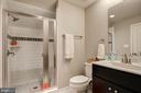 Full Bath on Top Floor has a large shower - 22983 WORDEN TER, BRAMBLETON