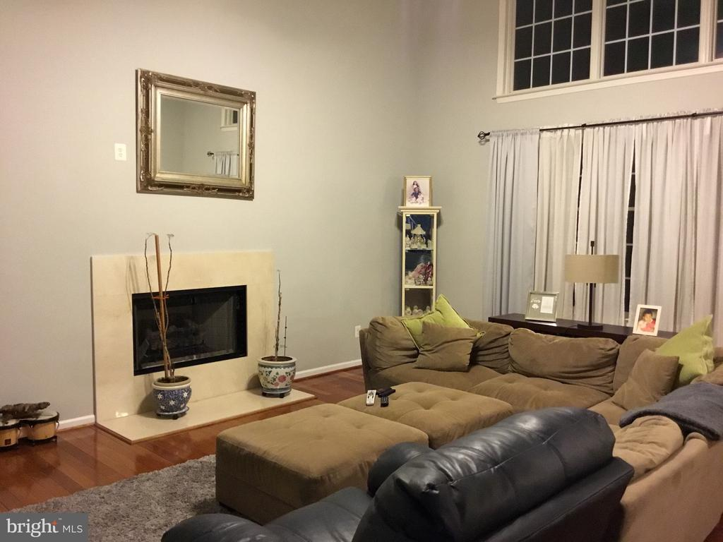 Family Room with Fireplace - 22778 OATLANDS GROVE PL, ASHBURN