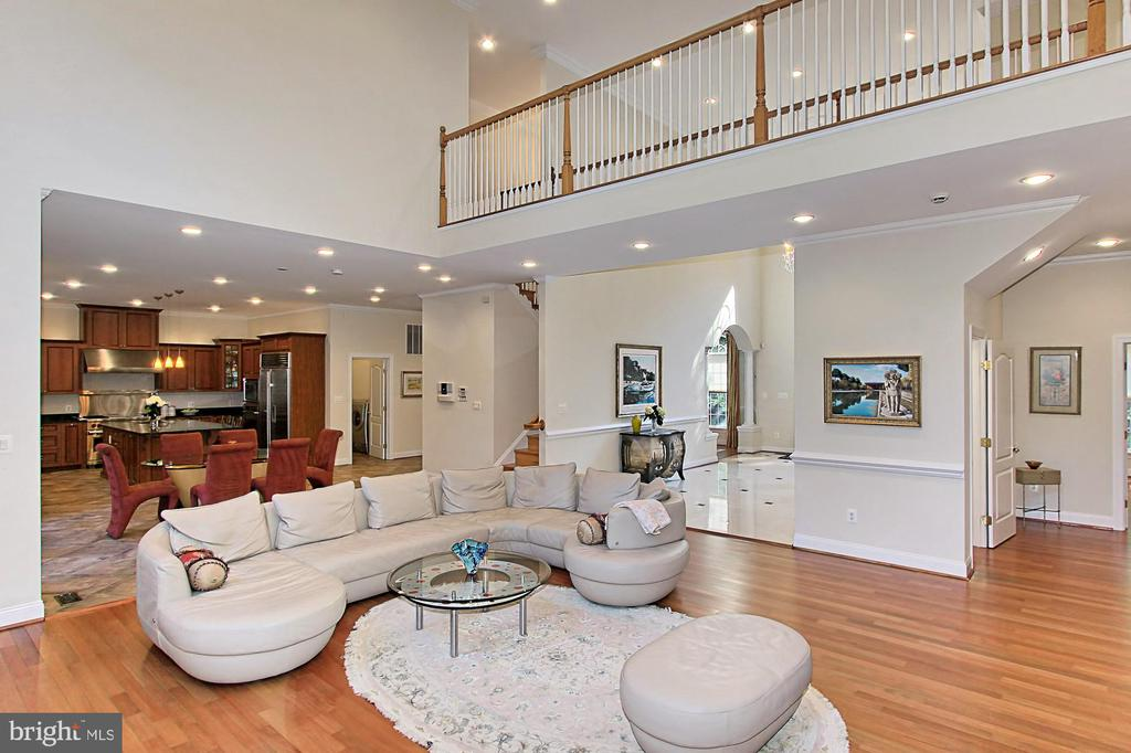 Family Room w/ Fireplace overlooking Kitchen - 7307 ALLAN AVE, FALLS CHURCH