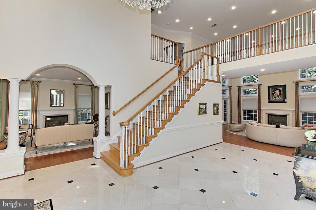 Grand Foyer w/ Marble Floors - 7307 ALLAN AVE, FALLS CHURCH