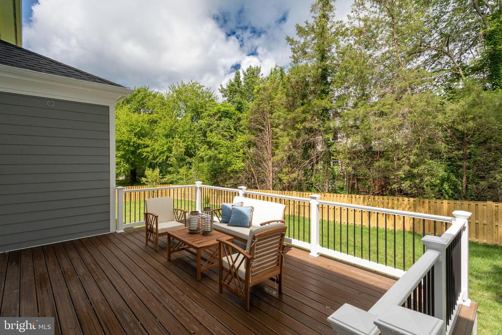 OVER-SIZED DECK. - 212 TAPAWINGO RD SE, VIENNA