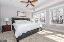 Master bedroom. Gorgeous tray ceilings. - 9612 WOODLAND, NEW MARKET