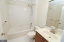 Hall Bath on upper level services Bedrooms 2 & 3 - 25236 WHIPPOORWILL TER, CHANTILLY