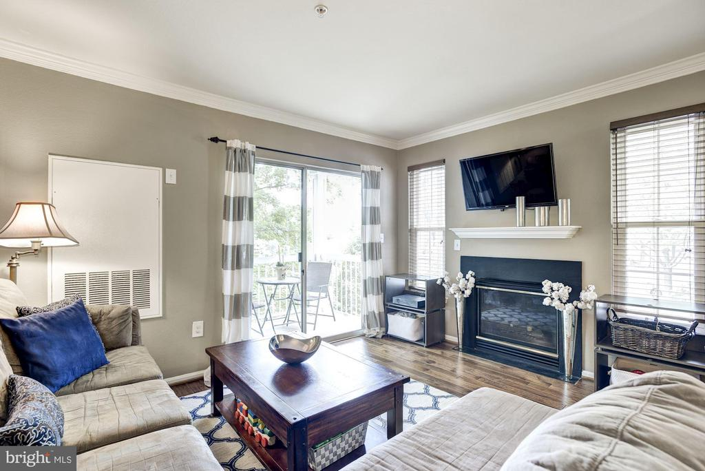 Living Room - Curl Up Next to Your Gas Fireplace! - 12861 FAIR BRIAR LN, FAIRFAX