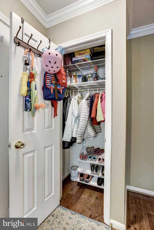 Custom Coat Closet in Foyer - 12861 FAIR BRIAR LN, FAIRFAX