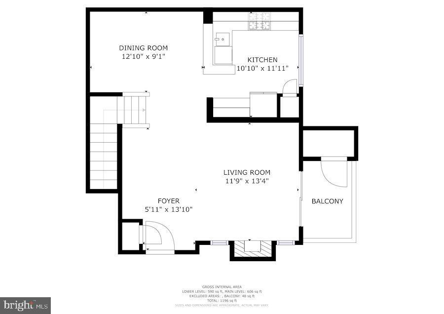 Floor Plan of Upper Level - 12861 FAIR BRIAR LN, FAIRFAX