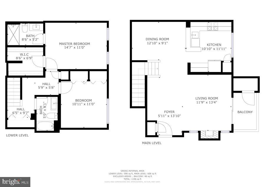 Combined Floor Plans - 12861 FAIR BRIAR LN, FAIRFAX