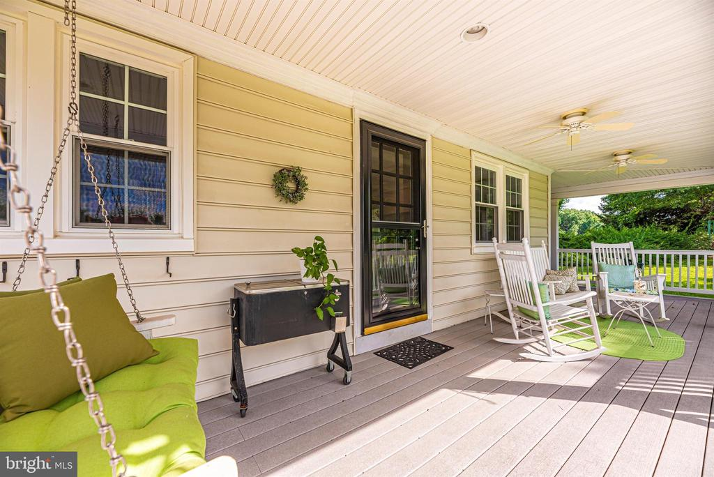 Covered Rear Porch off Kitchen/Gathering Area - 3842 MOUNT AIRY DR, MOUNT AIRY