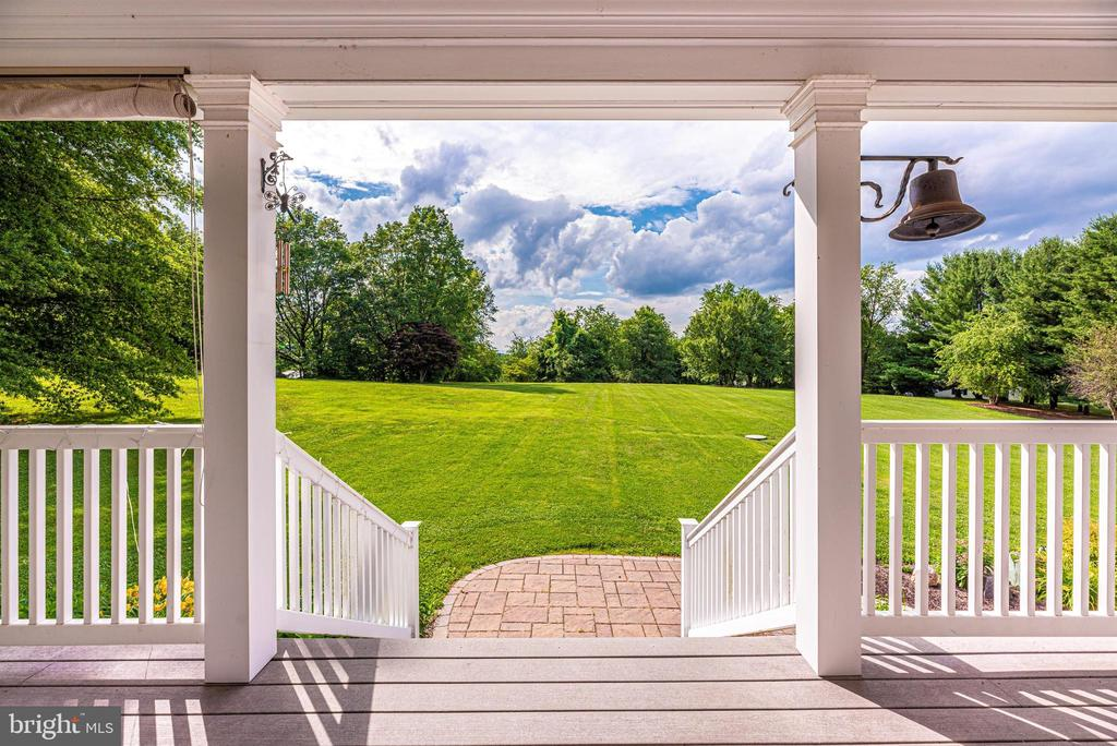 Amazing Rear Yard View from Porch - 3842 MOUNT AIRY DR, MOUNT AIRY