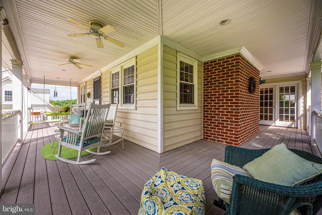 Porch Wraps from Great Room to Rear of Home - 3842 MOUNT AIRY DR, MOUNT AIRY