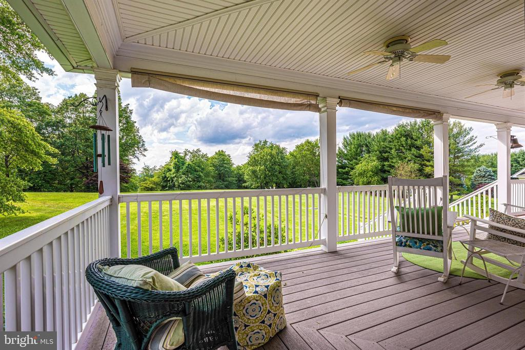Rear Porch has Ceiling Fans to Keep you Cool - 3842 MOUNT AIRY DR, MOUNT AIRY