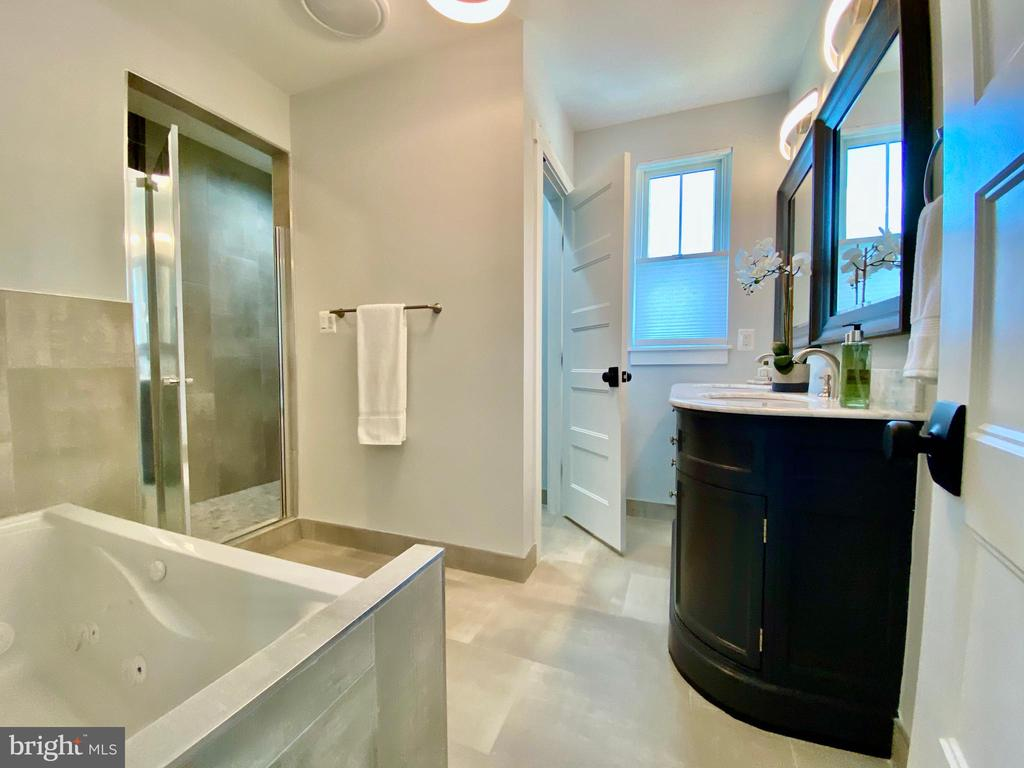 Spa bath with with separate water closet. - 705 N BARTON ST, ARLINGTON
