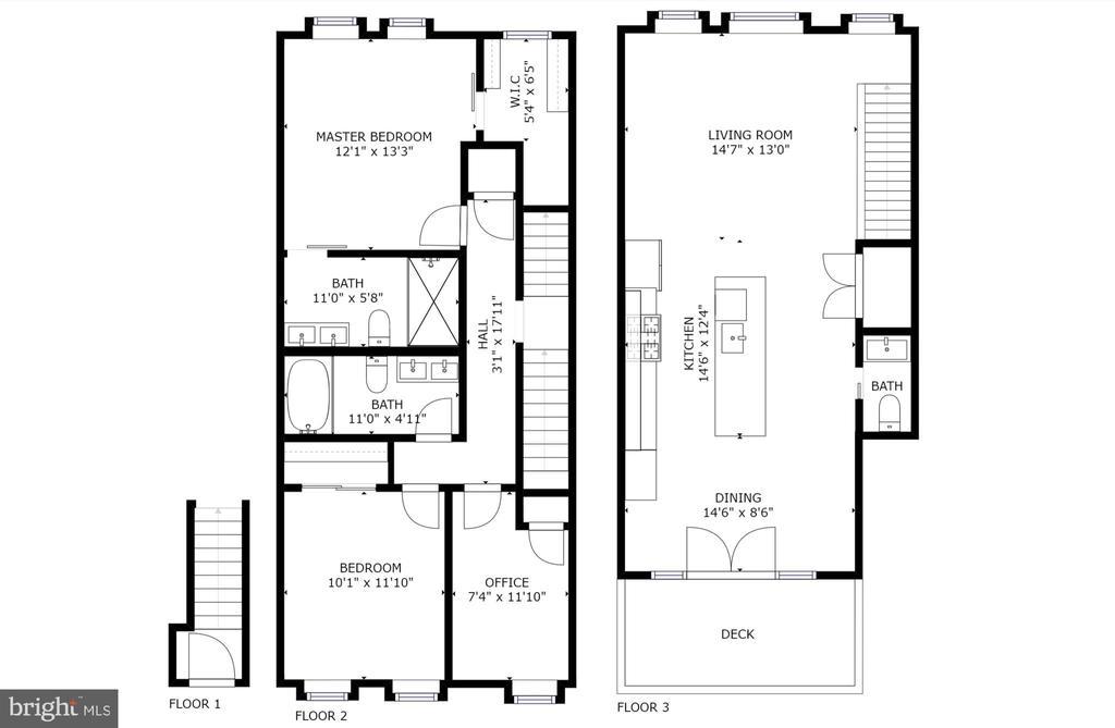 Floor Plan - 432 MANOR PL NW #2, WASHINGTON