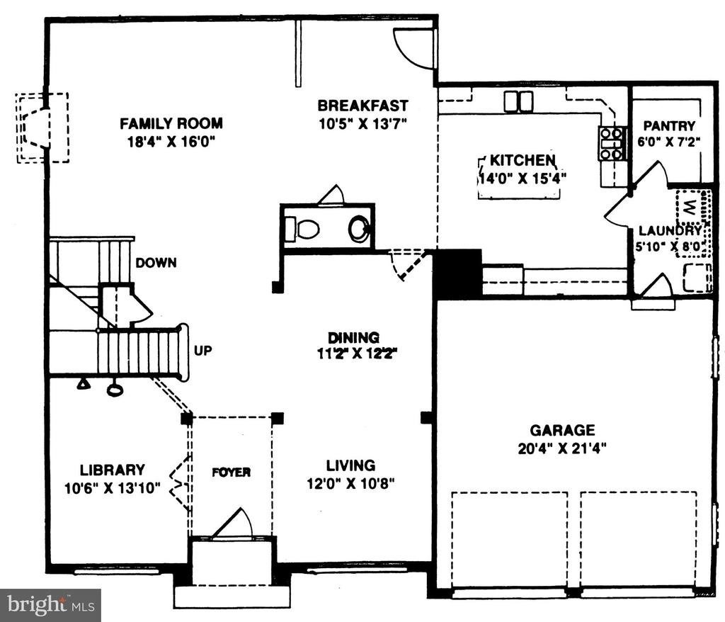 First floor PLAN - 46929 SENECA RIDGE DR, STERLING