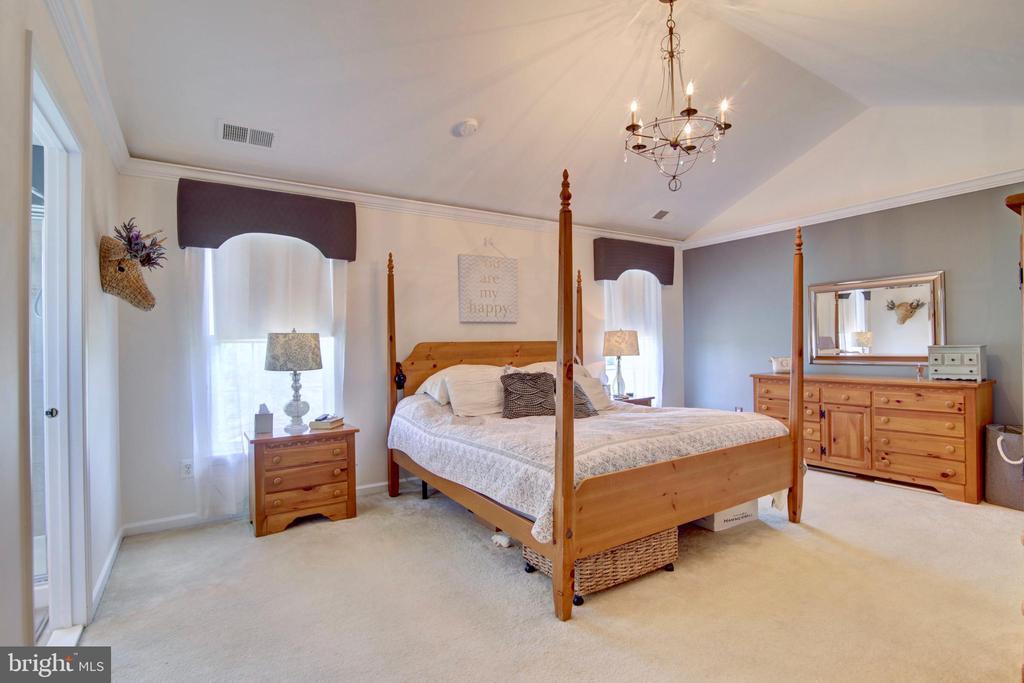 Master Bedroom with high vaulted ceiling - 43224 BALTUSROL TER, ASHBURN