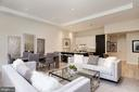 Living/dining area, spacious and open - 1745 N ST NW #211, WASHINGTON