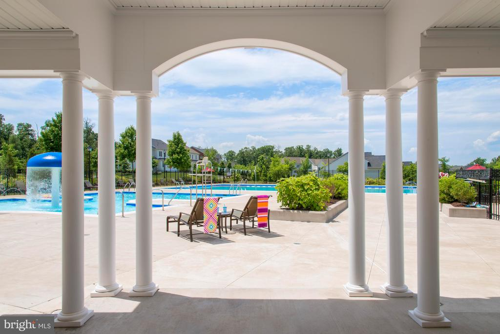 Shaded Area at Loudoun Valley Pool - 23558 NEERSVILLE CORNER TER, ASHBURN