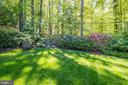 Rear Garden with Mature Landscaping - 5212 UPTON TER NW, WASHINGTON