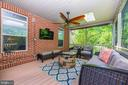 Screened in deck off kitchen - 6799 ACCIPITER DR, NEW MARKET