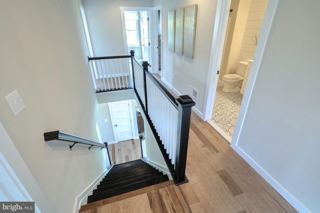 Craftsman stair railings to upstairs - 10674 OLD BOND MILL RD, LAUREL
