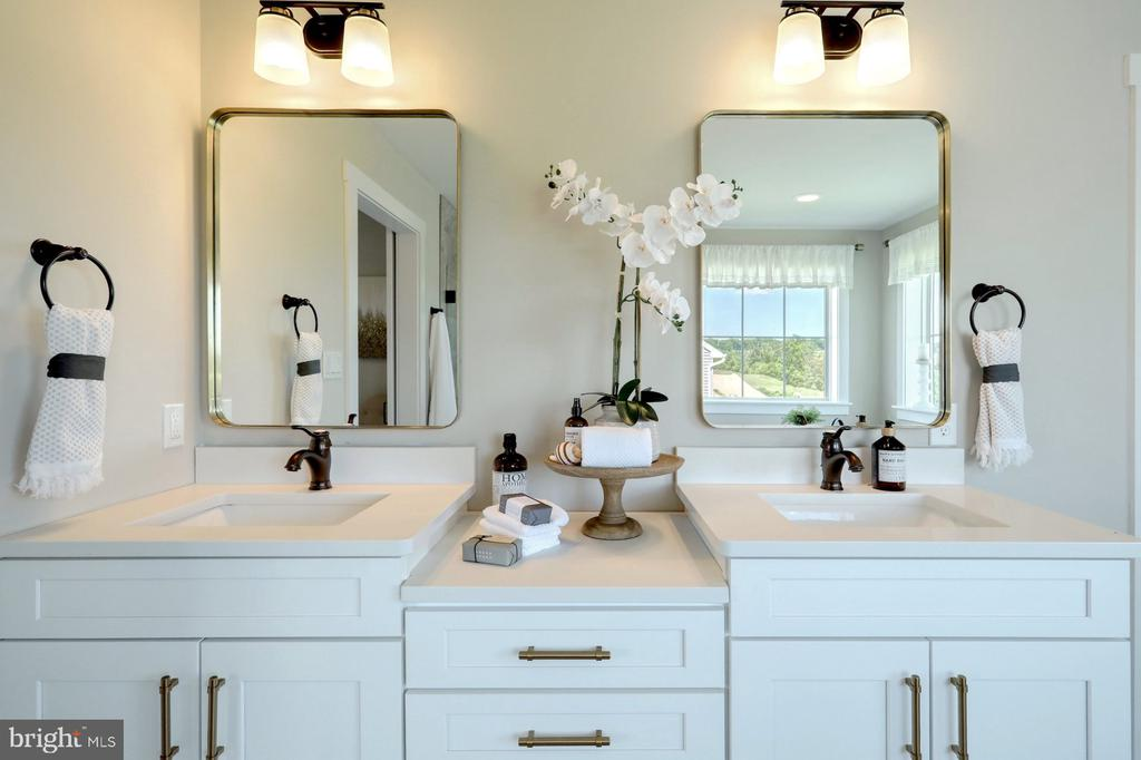 Master bath  dual vanities - 10674 OLD BOND MILL RD, LAUREL