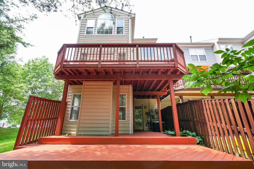 Rear View of Two Level Deck - 13433 CATAPULT LN, BRISTOW