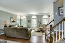 Palladian windows flood living room with sunlight - 1330 N ADAMS CT, ARLINGTON