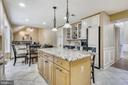 Functional Kitchen with Huge Island. - 2877 FRANKLIN OAKS DR, HERNDON
