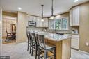 Breakfast Bar for Casual Dining. - 2877 FRANKLIN OAKS DR, HERNDON