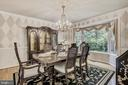 Dining Room Seating for Special Occasions. - 2877 FRANKLIN OAKS DR, HERNDON